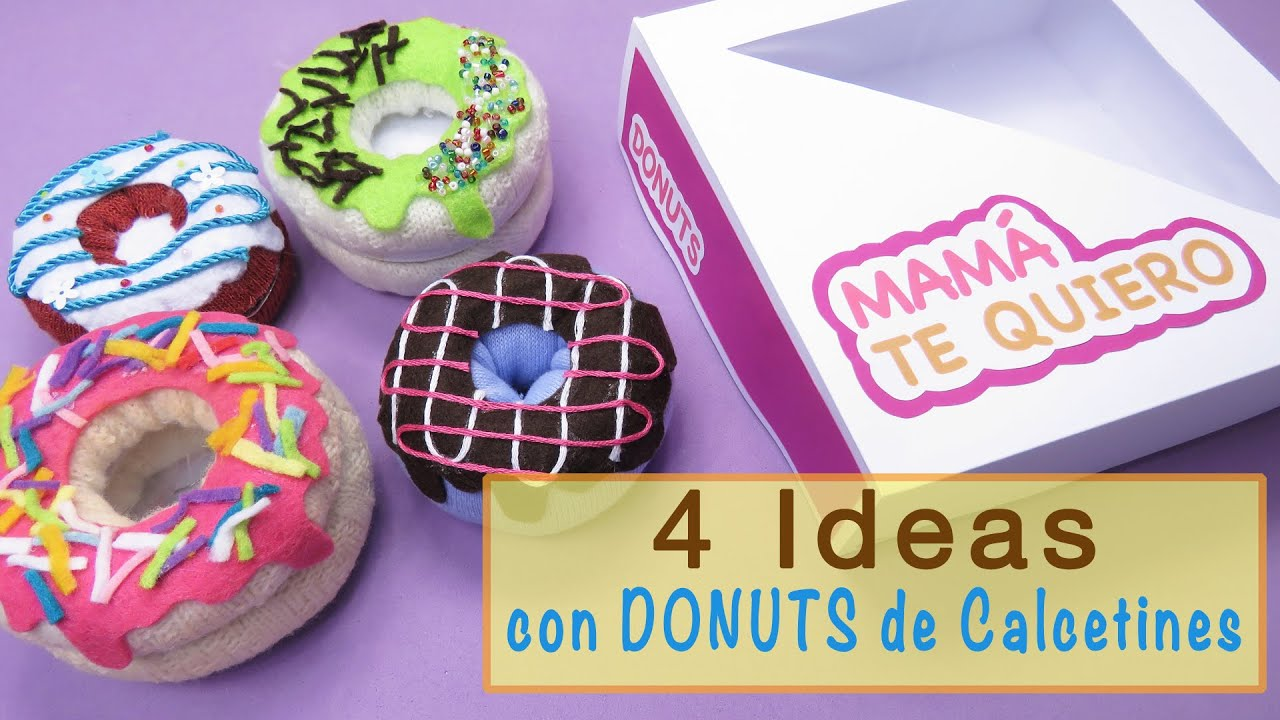 Ideas con donuts de calcetines youtube - Manualidades con calcetines ...
