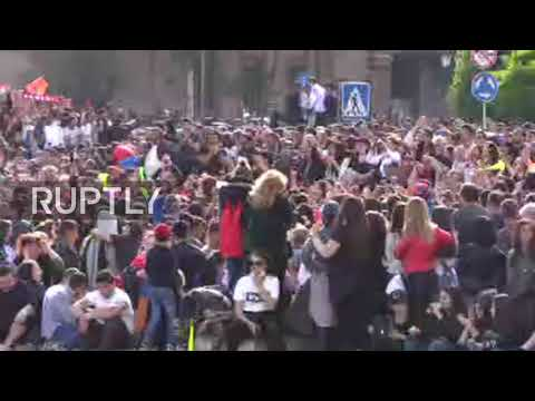 Armenia: Jubilant Scenes As Prime Minister Resigns Amid Protests