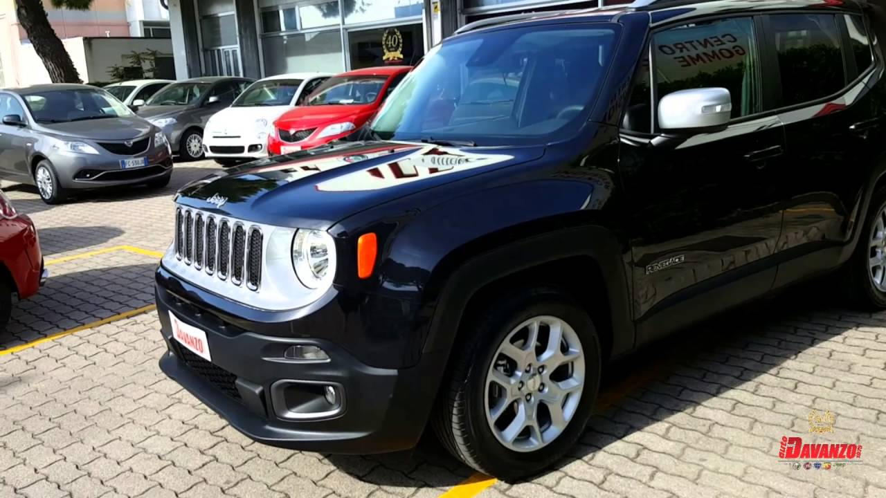 jeep renegade limited 1 6 120cv nero metallizzato youtube. Black Bedroom Furniture Sets. Home Design Ideas