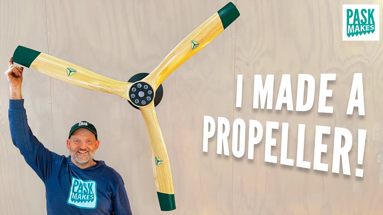 Making a Wooden Aircraft Propeller - Shaped with Basic Tools