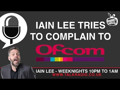 Iain Lee Tries to Complain to Ofcom About Katherine Boyle