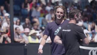Watch Tsitsipas Train Saturday At The Australian Open 2019