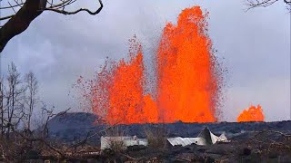 Lava flow from Kilauea volcano is reforming Hawaii coastline