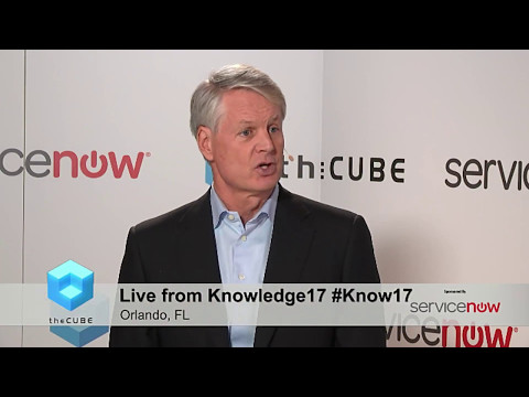 Knowledge17: theCUBE: John Donahoe, President and CEO, ServiceNow