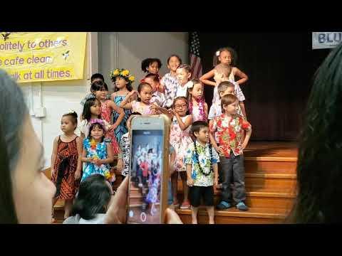 Kindergarten performance at kalihi uka elementary school