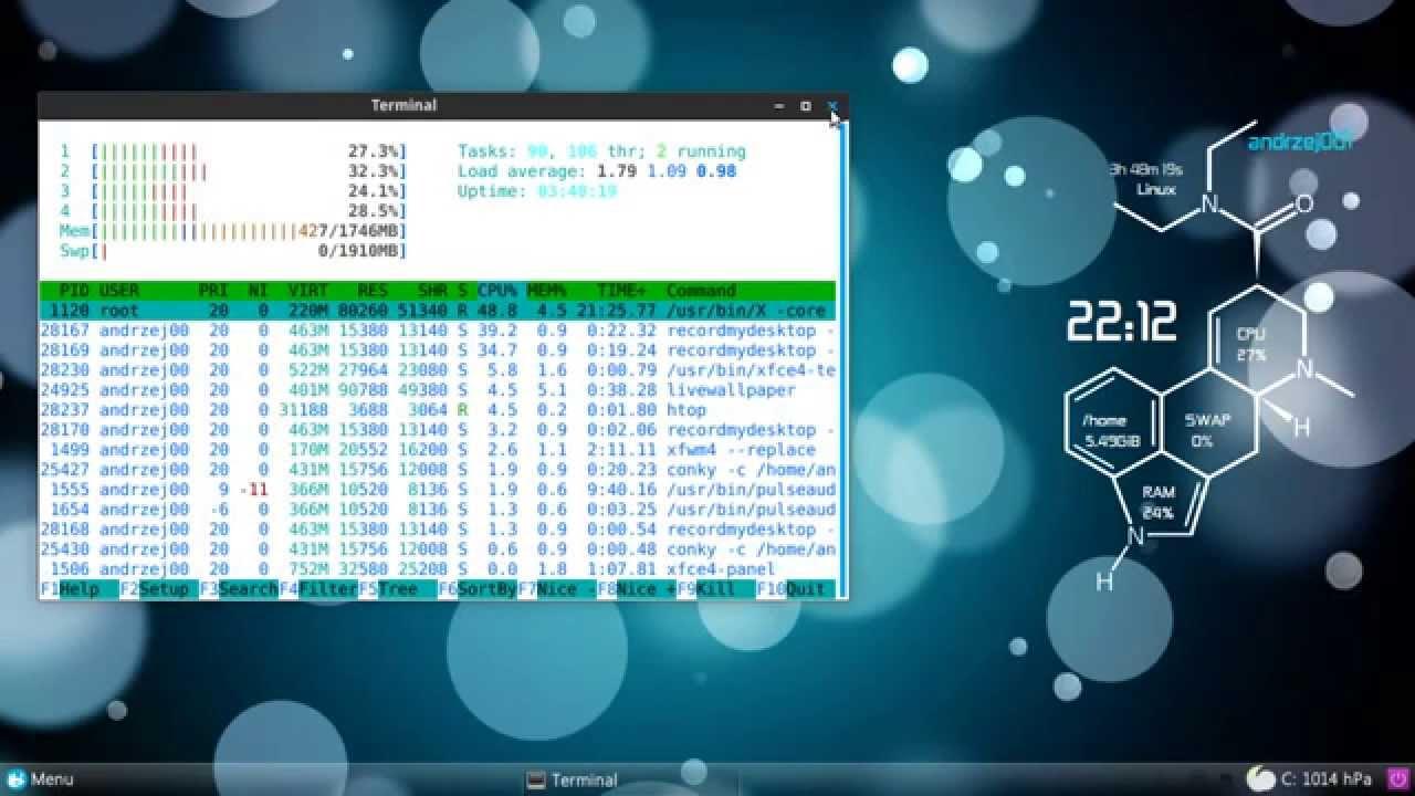 Xfce 410 Conky Live Wallpaper
