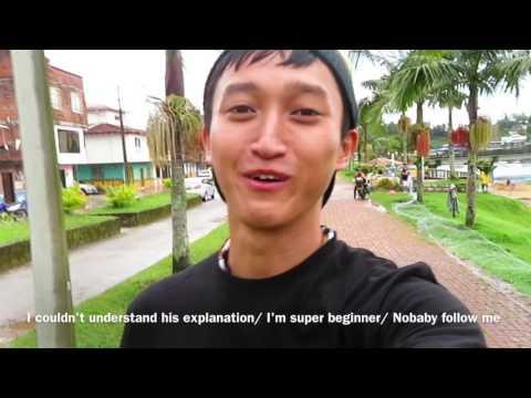 Dancer × Backpacker Shimon owaki , World travel 40 in  Guatape Medellin / Colombia   (HD)