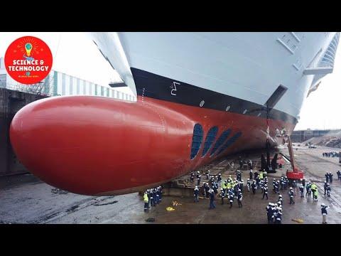 AMAZING LARGEST CRUISE SHIP MANUFACTURING-MODERN TECHNOLOGY SHIP CONSTRUCTION-MEGA MACHINE IN ACTION