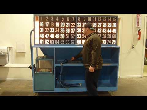 Portable Fully Functional Bingo Flash Board with Machine Blower