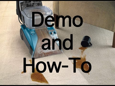 Hoover SteamVac with Clean Surge Demo and How-To