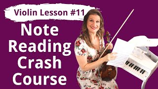 FREE Violin Lesson #11 How to Read Music Notes for Violin | EASY BEGINNER TUTORIAL