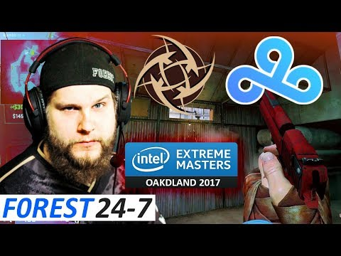 f0rest 24-7 / NiP vs C9 / IEM Oakland 2017 - Group A