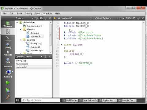 C++ Qt 83 - Basic and Advanced Animation with the QGraphicsItem