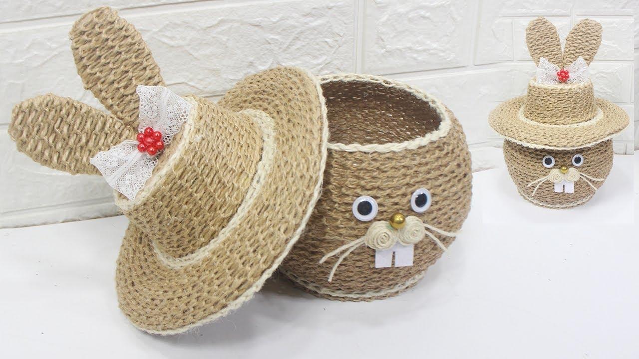 5 Jute craft ideas | Home decorating ideas handmade #7 ...
