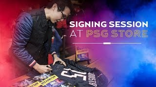 Signing session at PSG Store