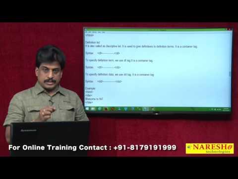 HTML Lists | Web Technologies Tutorial | Mr.Subbaraju