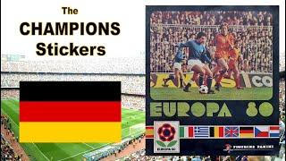 The CHAMPIONS Stickers of Panini UEFA Euro Album