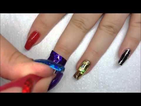 Как правильно пользоваться фольгой для дизайна ногтей