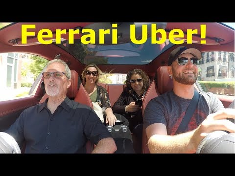 Picking up UBER Riders in a Ferrari! BIG TIPS*
