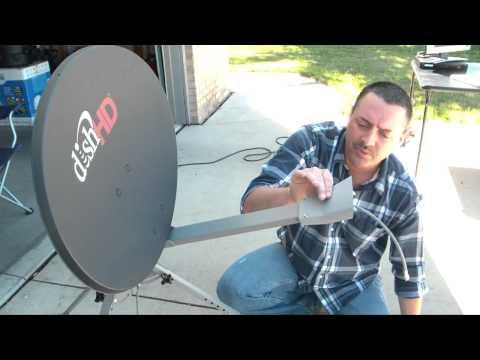 5. Mounting The LNB - TR-6100 Winegard Portable Satellite Dish & Tripod Kit