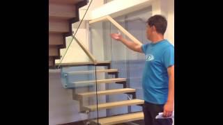 Лестница на металлических косоурах + стеклянное ограждение, отзыв о компании Белый Клён, 12.07.13(Отзыв Дмитрия, сотрудника IT-компании, о работе компании