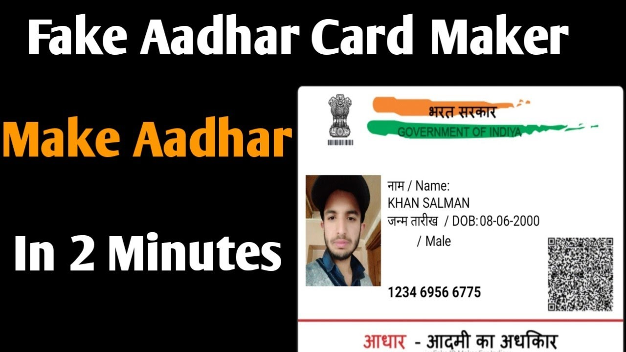 How To Make Fake Aadhar Card || Fake Aadhar Card Maker App