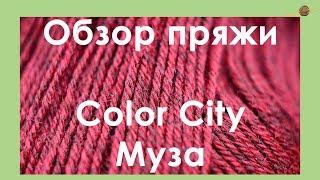 ОБЗОР ПРЯЖИ. Color City Муза. Шерстяная пряжа со льном. || Начни вязать!