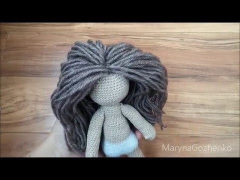 кукла вязаная крючком волосы часть 6 Youtube