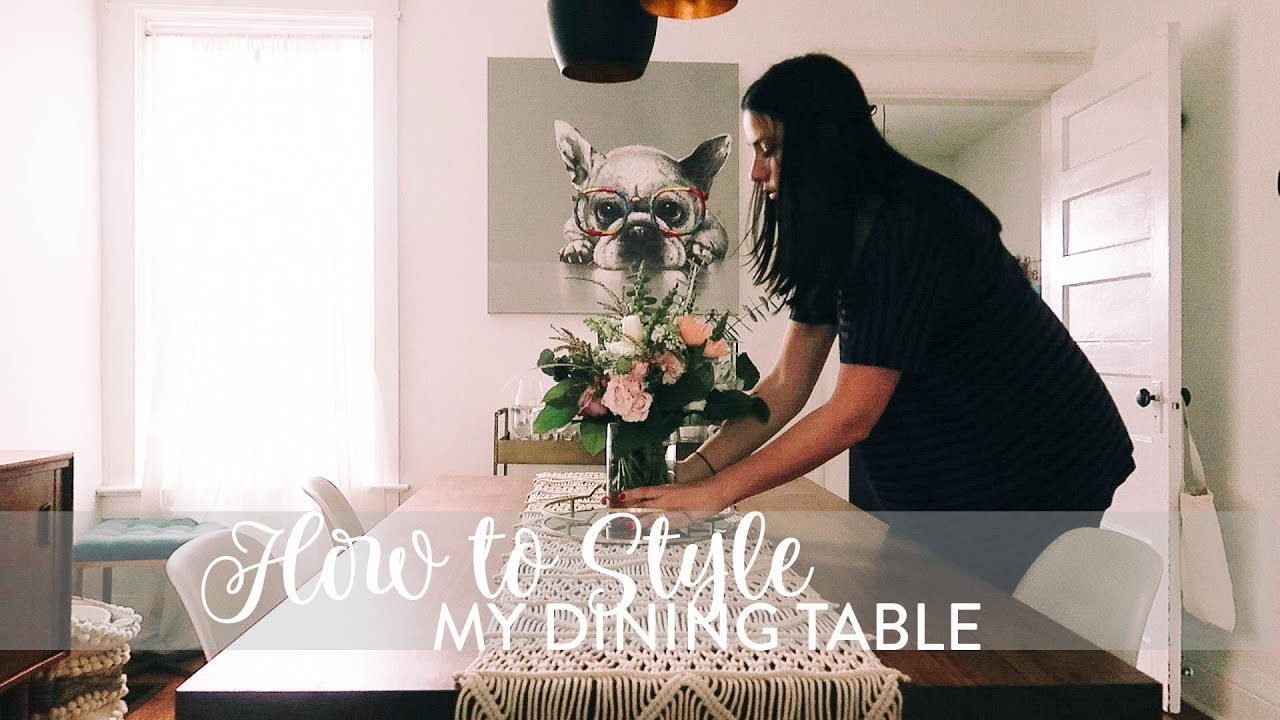 Centerpiece Ideas For Dining Table Diy How To Style A Table For Spring Youtube