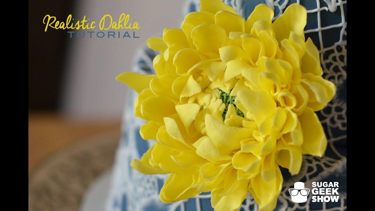 How To Make A Gumpaste Dahlia Flower Youtube
