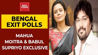 India Today Exit Polls: Mahua Moitra Says TMC Forming Govt In Bengal, Babu Supriyop Claims BJP's Win