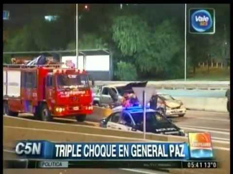 C5N - TRANSITO: TRIPLE CHOQUE EN AVENIDA GENERAL PAZ