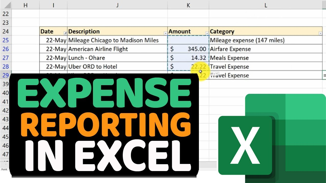 How To Prepare And Submit Business Travel Expense Report In Excel Youtube How to prepare expense reports