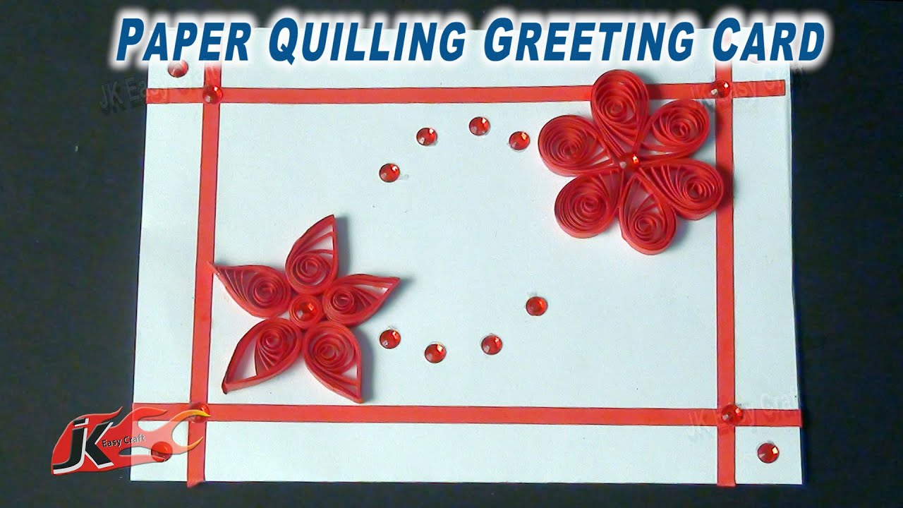 DIY Easy Paper Quilling Greeting Card How to make