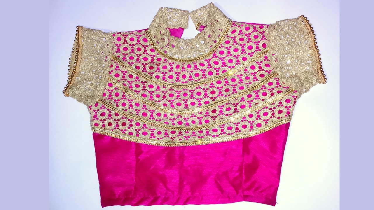 lehenga blouse with collar neck design and beautiful back design (with  pattern) - YouTube c93ac9bee0