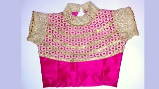 lehenga blouse with collar neck design and beautiful back design (with pattern)