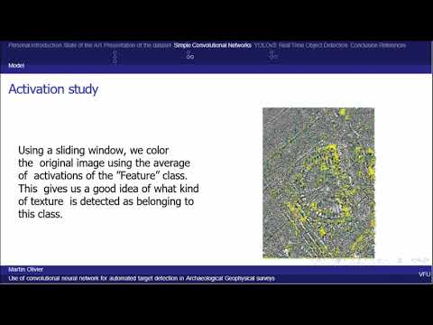 Use of convolutional networks for archaeological feature detection in geophysical surveys