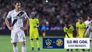SLO-MO GOAL: Zlatan converts an inch-perfect penalty