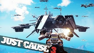 SKY FORTRESS VS MECH BATTLE!!! :: Just Cause 3 Mech Assault Epic Challenges!