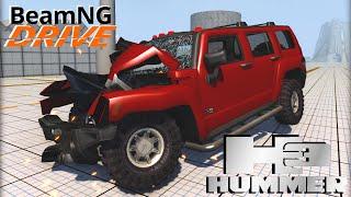 beamng drive mod crash test hummer h3