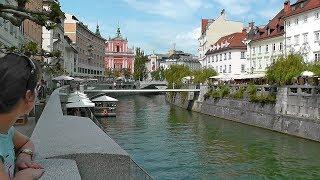 Любляна, Словения. Красивый европейский город