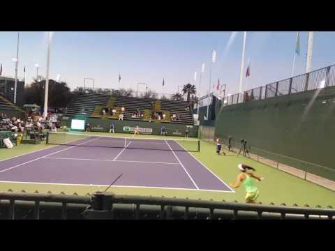 Claire Liu vs Anett Kontaveit - BNP Paribas Open Qualifying - 3/6/2017