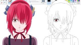 Desenhando Anime no Paint - Lucy-Nyu - Elfen Lied