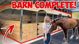 MY DREAM HORSE BARN IS COMPLETE! | BUILDING MY DREAM HORSE BARN PART 19!