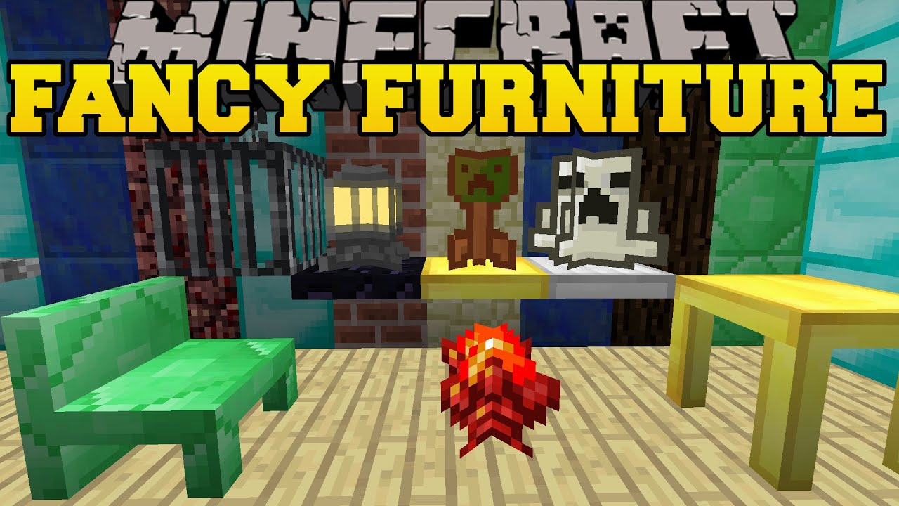 Minecraft FANCY FURNITURE TABLES CHAIRS CHIMNEYS