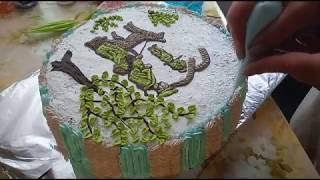 Тортики для будущего солдата. Украшение Белково  Заварным Кремом