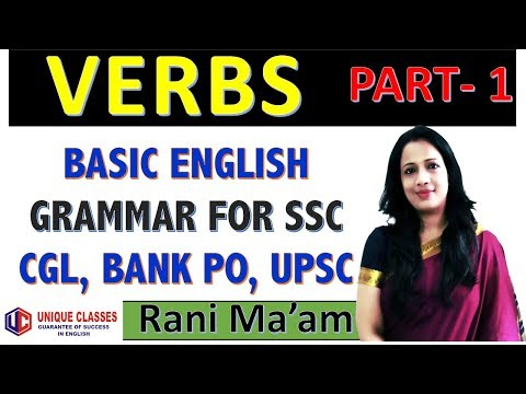 Concept Of Verb In English Grammar With Examples In Hindi | For SSC CGL/BANK PO/UPSC/CDS/NDA- Part-1