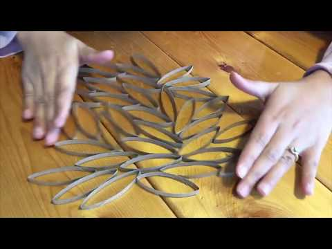 diy-toilet-paper-roll-crafts- -hanging-wall-decoration