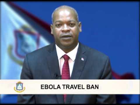 National Statement - EBOLA Travel Ban for Sint Maarten