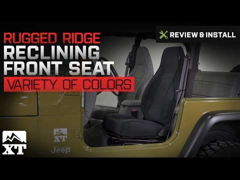 Jeep Wrangler Rugged Ridge Reclining Front Seat (1987-2002 YJ, TJ) Review & Install